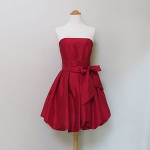 Strapless Party Dress - Bubble Hem - Red - M - NWT